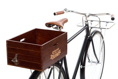 - State Bicycle Co. - Wooden City Bike Crate - Rear