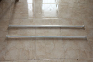 """52"""" White Shower Tension Curtain Rods"""