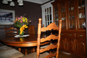 Nadeau solid maple ladderback dining suite