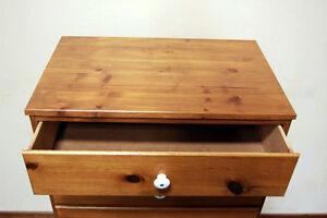 Attractive Knotty Pine 5 Drawer Petite Highboy Dresser SEE VIDEO