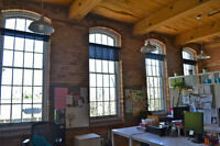 Coveted Carpet Factory Loft Office Space in Liberty Village