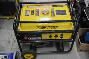 Champion 5500W portable gas generator ( used once ! )
