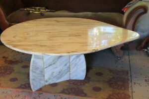 Guitar pick shaped marble Table