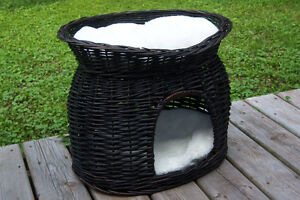 Panier en osier/ wicker cat basket