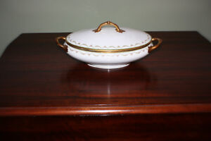 Vintage Limoges: Oval shaped vegetable dish