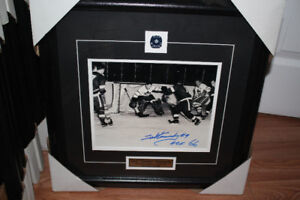 Toronto Maple leafsTed Teeder Kennedy autographed framed 8x10