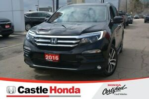 2016 Honda Pilot/ONE OWNER! LOW KMS! Touring AWD