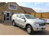 2014 FORD RANGER XLT TDCI 4X4 DOUBLE CAB WITH TRUCKMAN TOP PICK UP DIESEL