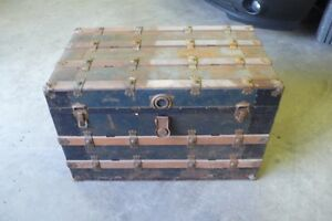2 Antique Trunks and bag