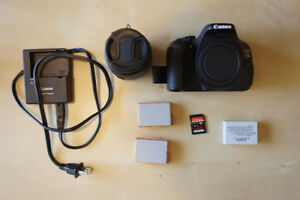 Canon T3i / EOS 600D with 18-55mm kit lens + 8mm Fisheye