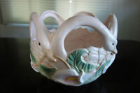 Vintage 1987 Retired Fitz & Floyd Swan and Calla Lily Bowl