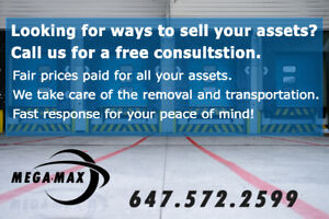 Are you trying to sell your assets Contact us We buy everything!