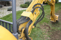 MINI EXCAVATOR/OPERATOR FOR HIRE WATERPROOFING, TRENCHING