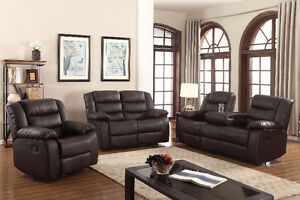3 PIECE RECLINING SOFA SET WITH CUPHOLDER !!!!