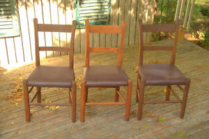 ANTIQUE SLATBACK / TWO-TIERED CHAIRS