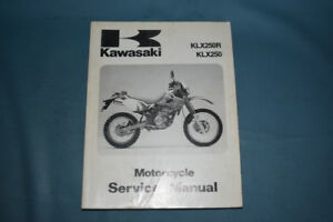 1993-94 Kawasaki KLX 250 Service Shop Repair Manual OEM Factory