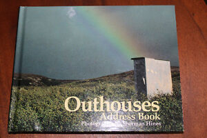 """Sherman Hines """"OUTHOUSES of N.S."""" Photo  Address Book  (new)"""