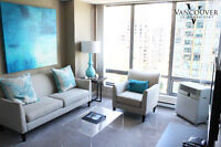 FURNISHED - One Bedroom with Office Apartment near Robson