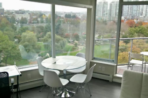 Park-view Furnished 2 bedrooms, 2 bathrooms + den