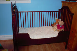 Cherry wood Crib and stroller