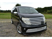 FRESH IMPORT 2004 E51 NISSAN ELGRAND RIDER V6 TOP OF THE RANGE AUTO BLACK
