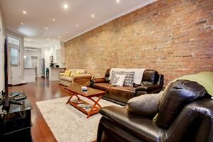 Luxurious upscale first floor apartment in Outremont for rent