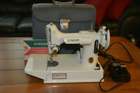White Singer Featherweight 221 sewing machine