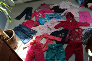 Size 3 girls clothing lot of 15 long sleeve tops and 6 pants