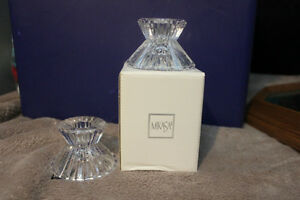 Pair of Mikasa Diamond Fire Candleholders BNIB