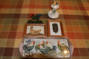 ROOSTER/CHICKEN DECOR  (15 ITEMS)
