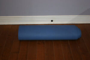 JADE Yoga Fitness Exercise Mat. Blue in color.