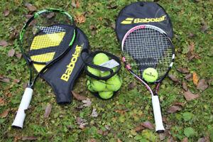 Tennis Rackets (HIS & HERS) w/ a dozen tennis balls