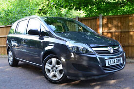 2014 Vauxhall Zafira 1.8i Exclusiv 44000 Miles 1 owner £164 A Month £0 Deposit