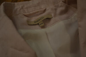 Pink Pinstripe Blazer from RW&Co. - Size XS Peterborough Peterborough Area image 2