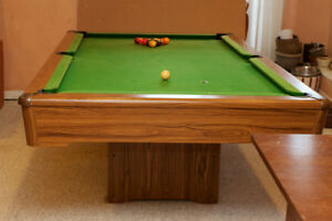 Pool/Billiards Table 4'x8', used, slate, with balls, rack cues