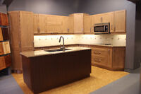 Kitchen cabinets with quartz counter