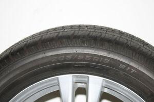 "16"" Aluminum Universal 5 Bolt AWC Rims+ 4 all seasons tires"
