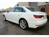 2017 WHITE AUDI A4 1.4 TFSI 150 S LINE PETROL MAN SALOON CAR FINANCE FR £249 PCM