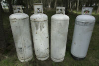 USED- ASSORTED 100 LB PROPANE TANKS
