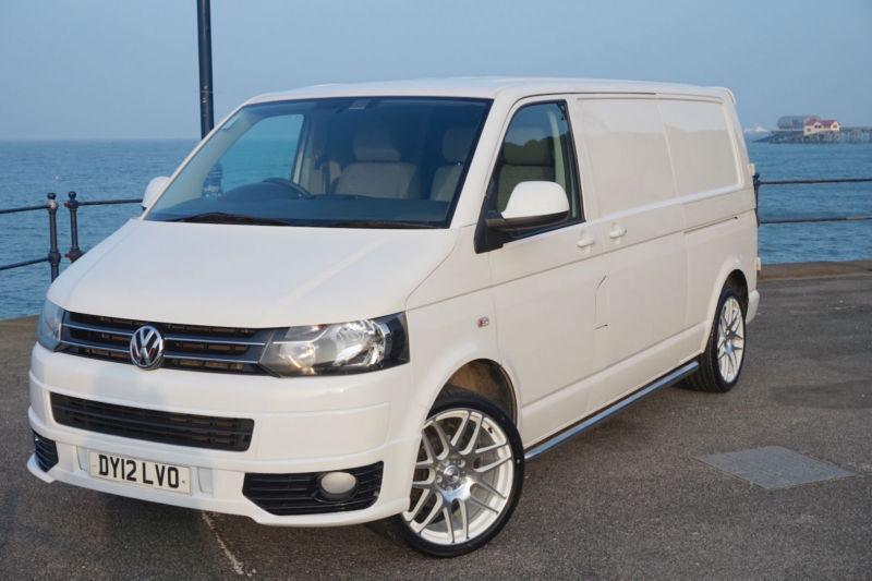 2012 vw transporter t5 102 tdi lwb no vat sportline kit t5 1 gp t30 day van in swansea. Black Bedroom Furniture Sets. Home Design Ideas