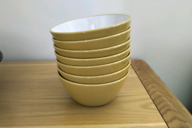 Yellow Cereal Bowls x7