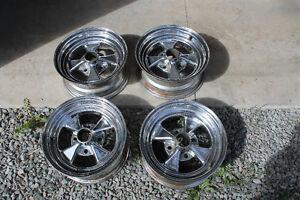 "13"" Cragar SS Style Mags Wheels 4 Spoke 4 Bolt Set of 4 Unilug"