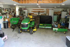 Lawn and Garden Tractor With Accessories For Sale