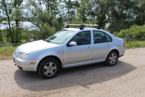 2002 VW Jetta TDI, with winter tires and roof racks!