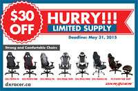 Save $30 on DXRacer Chairs
