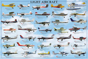General Aviation - Light Aircrafts Poster Print, 36x24