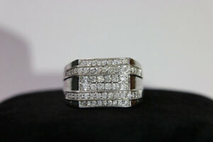 **APPRAISED** Mens 10kt White Gold 1.00ct Diamond Ring (#10579)