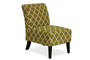 FLOOR MODEL FABRIC ACCENT CHAIRS FOR $175 ONLY