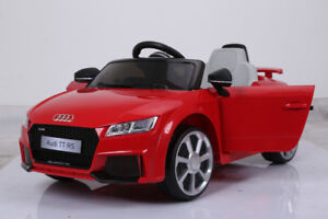 Licensed 12V Audi TT RS Child Ride-On Car with Doors, Remote
