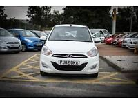 2013 62 HYUNDAI I10 1.2 Active 5dr in Crystal White